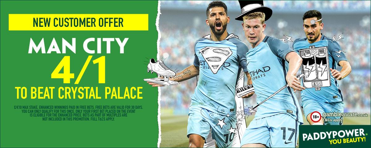 GFX Man City Crystal Palace enhanced betting