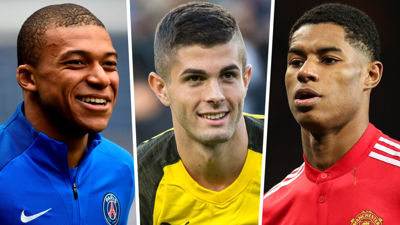 Image result for Mbappe, Rashford, Pulisic & the world's most expensive young players