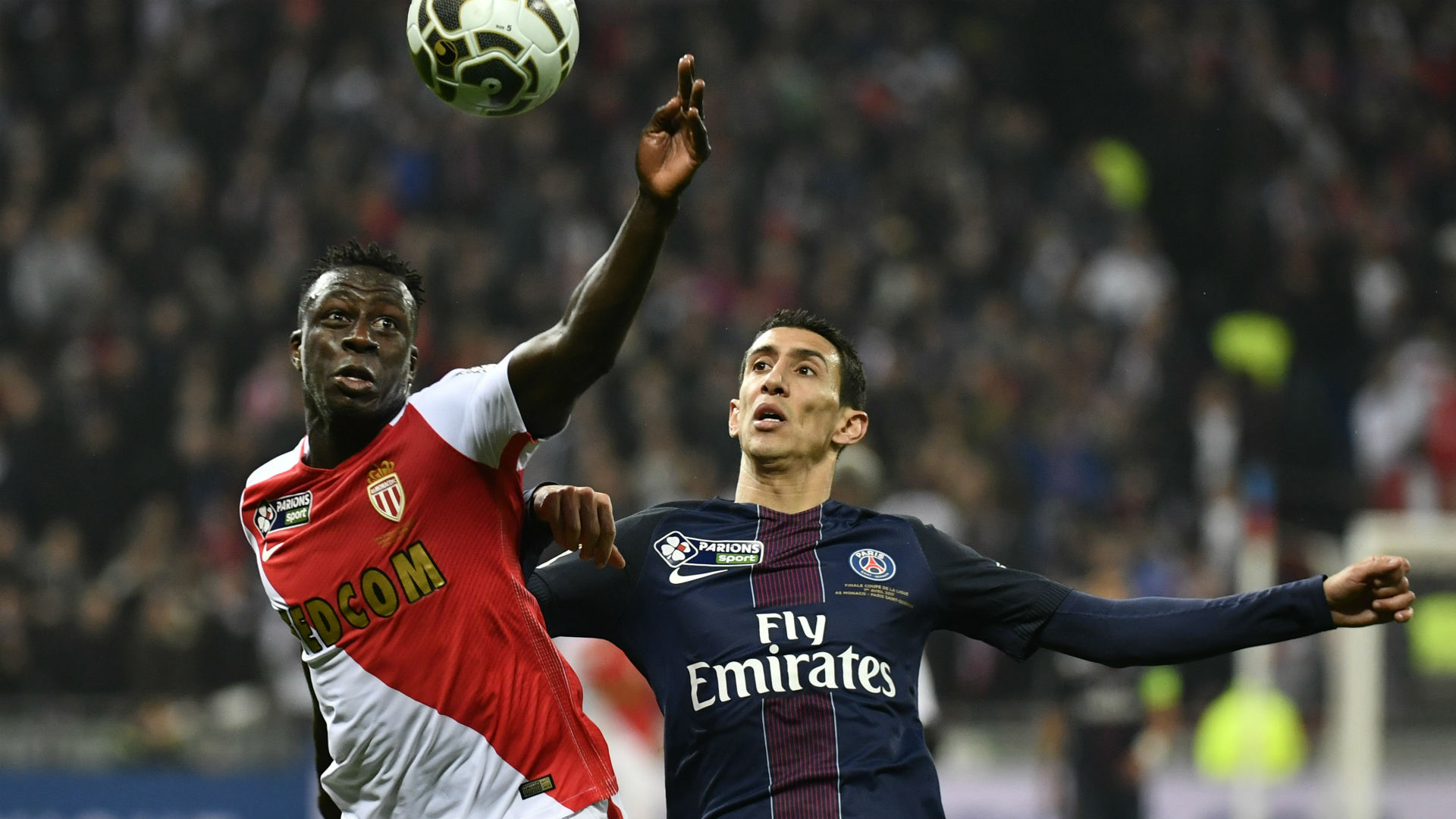 Angel Di Maria Benjamin Mendy PSG Monaco Coupe de la Ligue 01042017