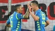 Napoli celebrating Salzburg Europa League