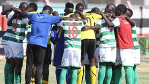 Nzoia Sugar players at final whistle