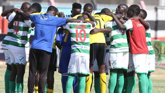 Nzoia Sugar players at final whistle