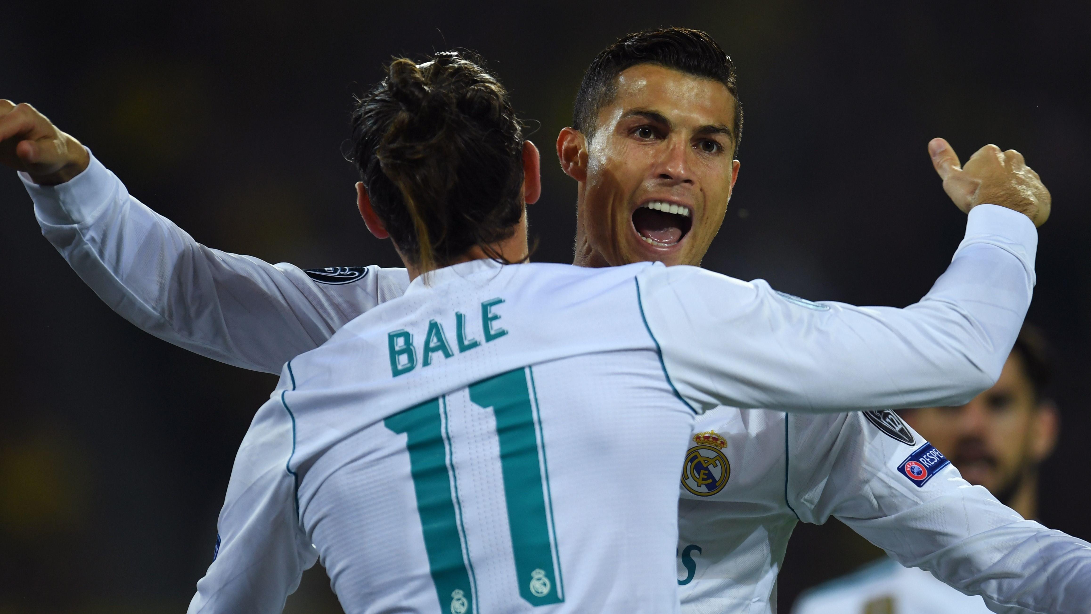 Cristiano Ronaldo Gareth Bale Borussia Dortmund Real Madrid UCL 26092017
