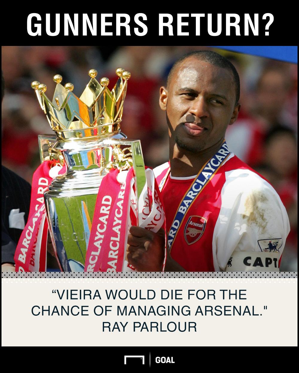 Patrick Vieira die for Arsenal job Ray Parlour