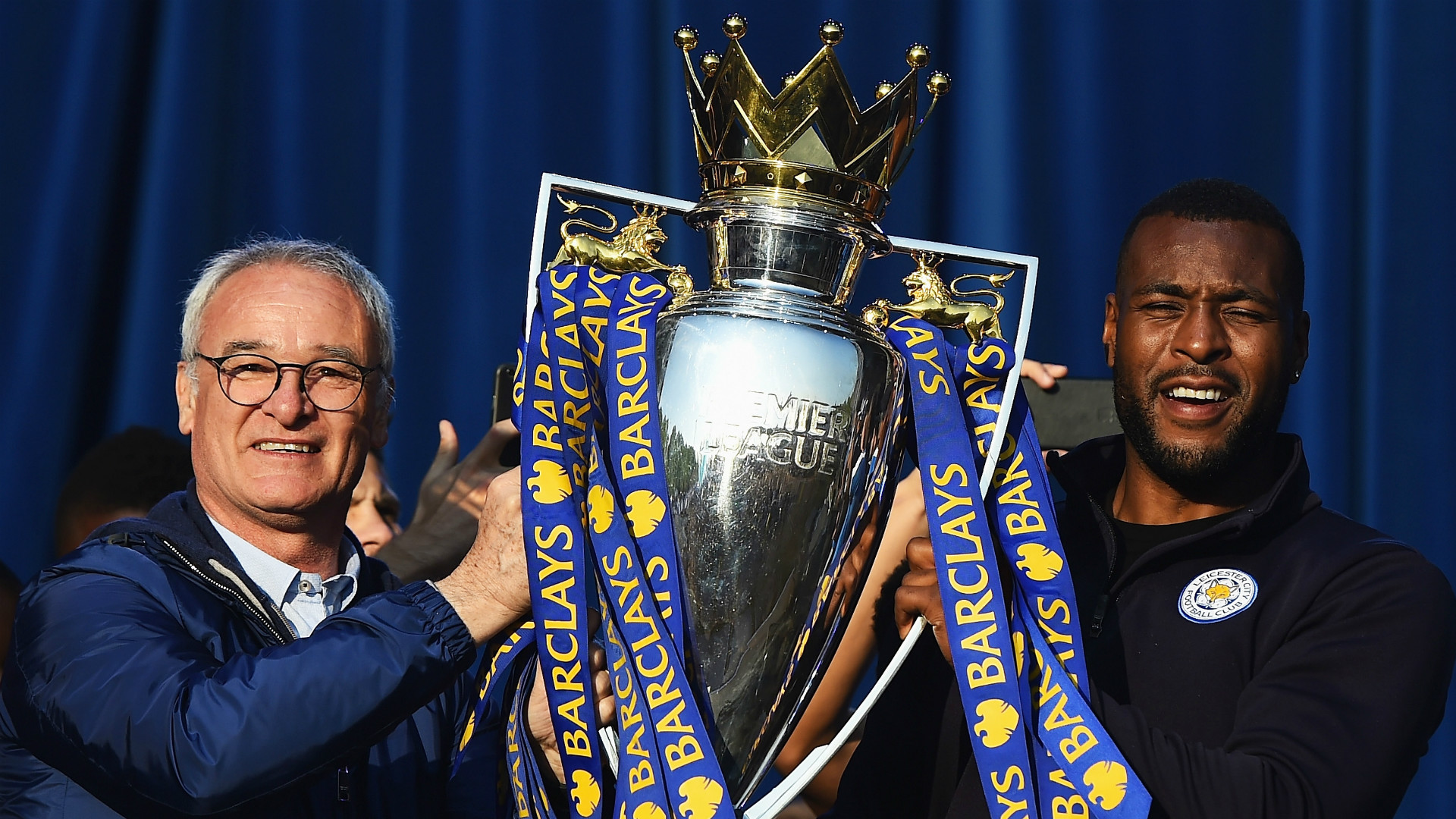 Claudio Ranieri Wes Morgan Leicester City