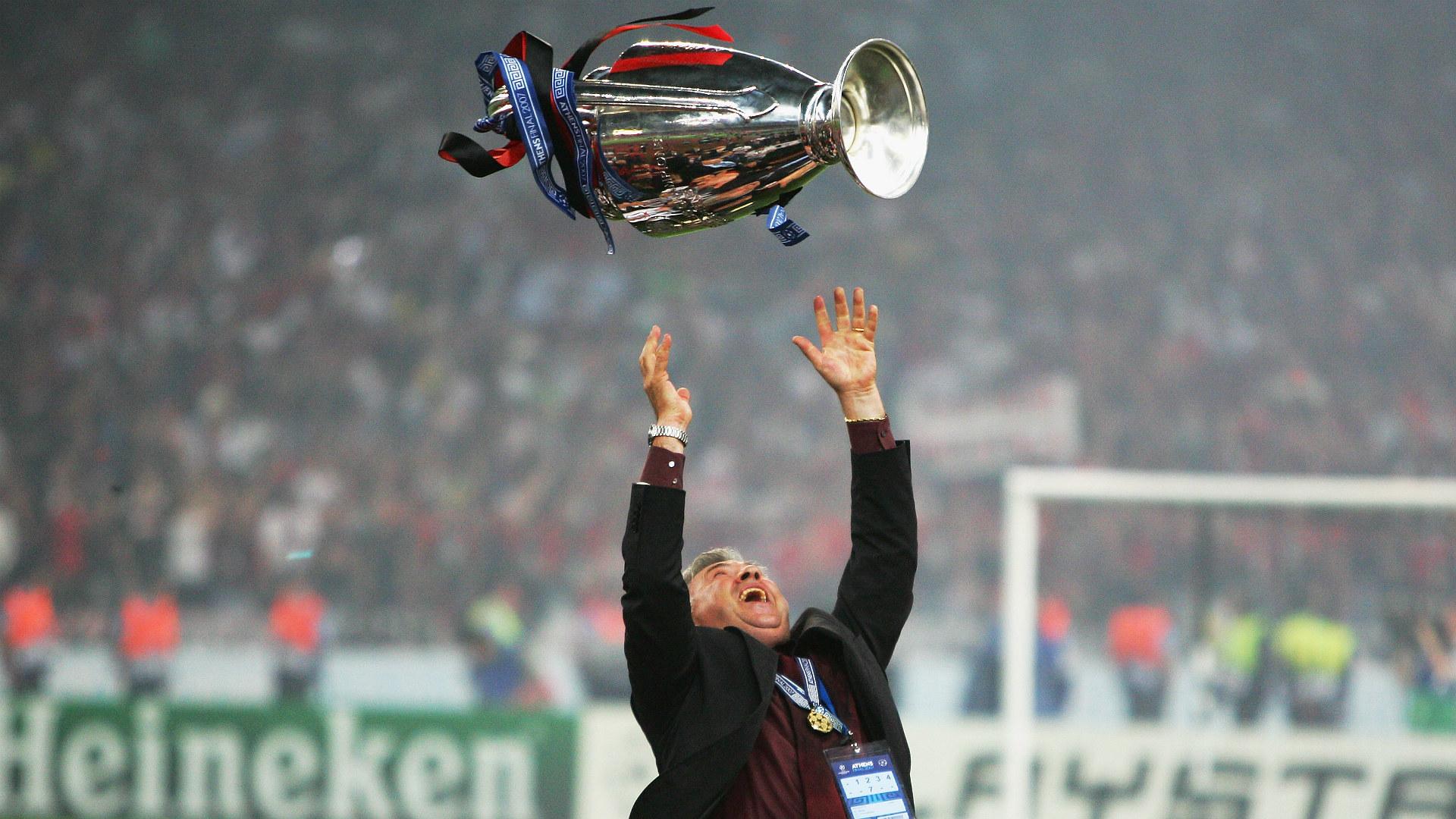Carlo Ancelotti Milan Champions League 2007