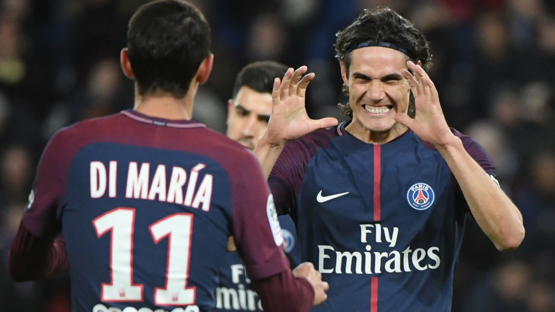 Edinson Cavani Angel Di Maria PSG Dijon Ligue 1 17012018