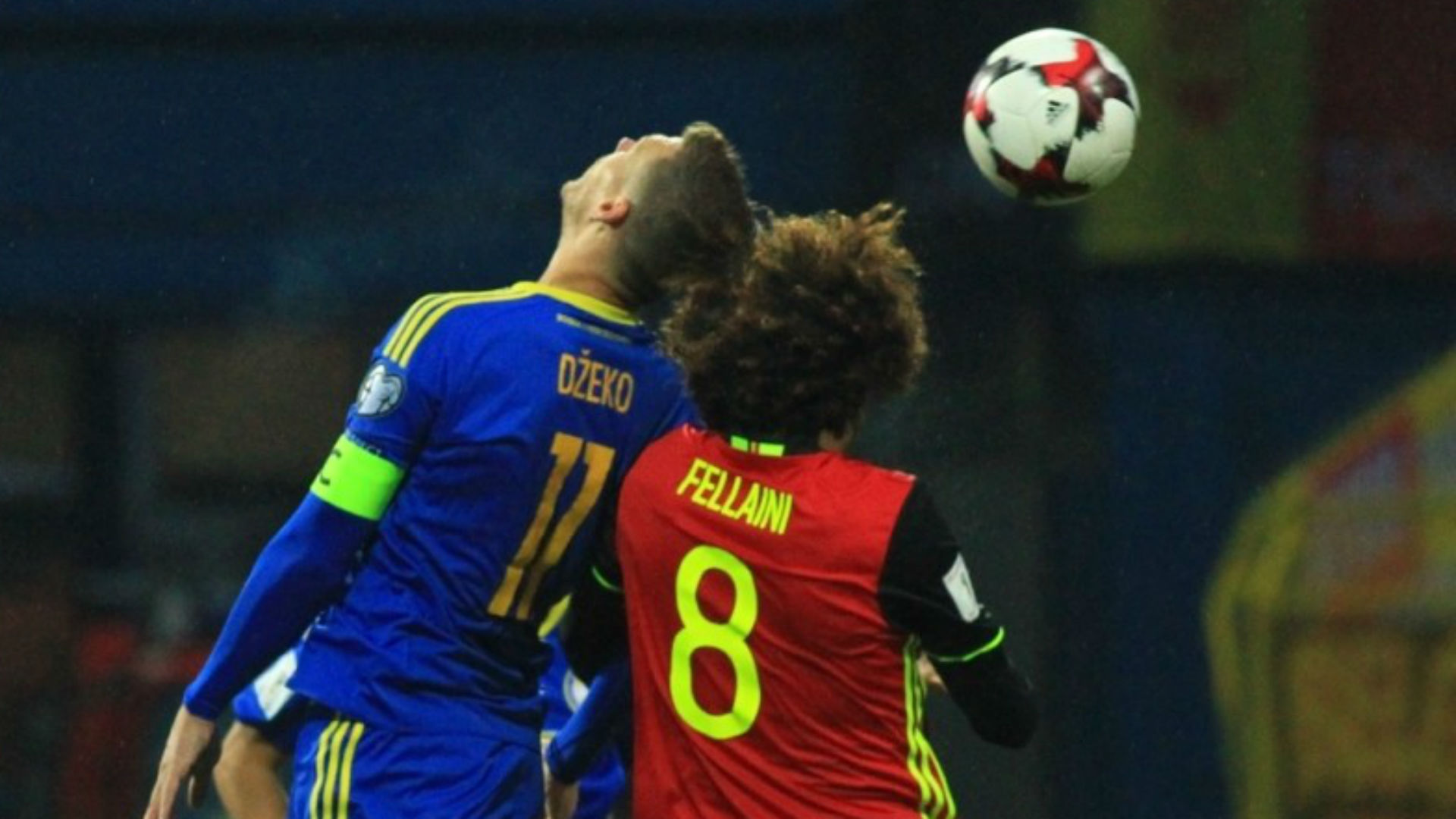 Bosnia Belgium WC Qualification Dzeko Fellaini