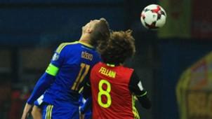 Bosnia Belgium WC Qualification Dzeko Fellaini