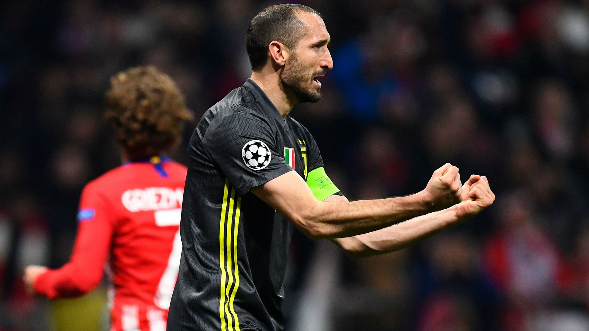 Chiellini Atletico Madrid Juventus Champions League