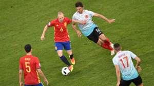 Iniesta Busquets Yilmaz Tufan Spain Turkey Euro 2016