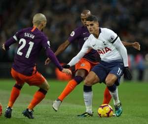 David Silva Manchester City Erik Lamela Tottenham