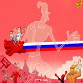 Cartoon: Russia dump out Spain