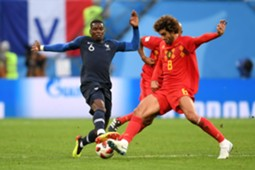 Paul Pogba France Marouane Fellaini Belgium