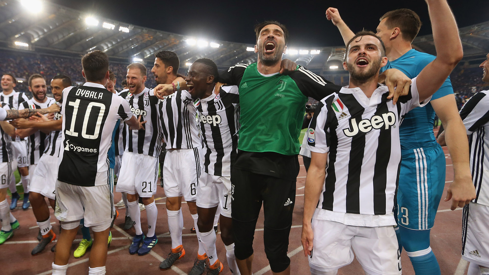 Juventus celebrating Scudetto