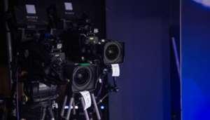 BT Sport cameras before Manchester City versus Monaco