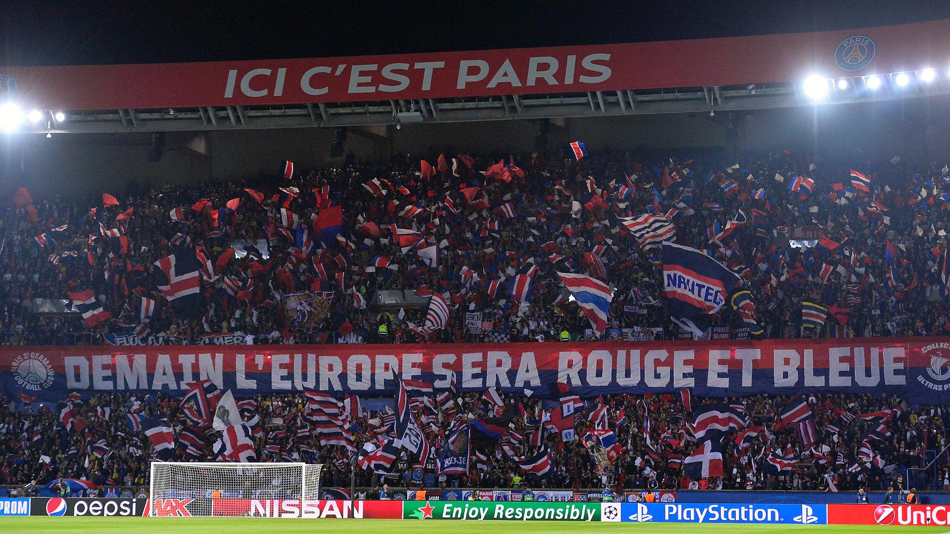 PSG fans Parc des Princes 2018