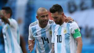 Javier Mascherano Lionel Messi Argentina France World Cup 2018 300618