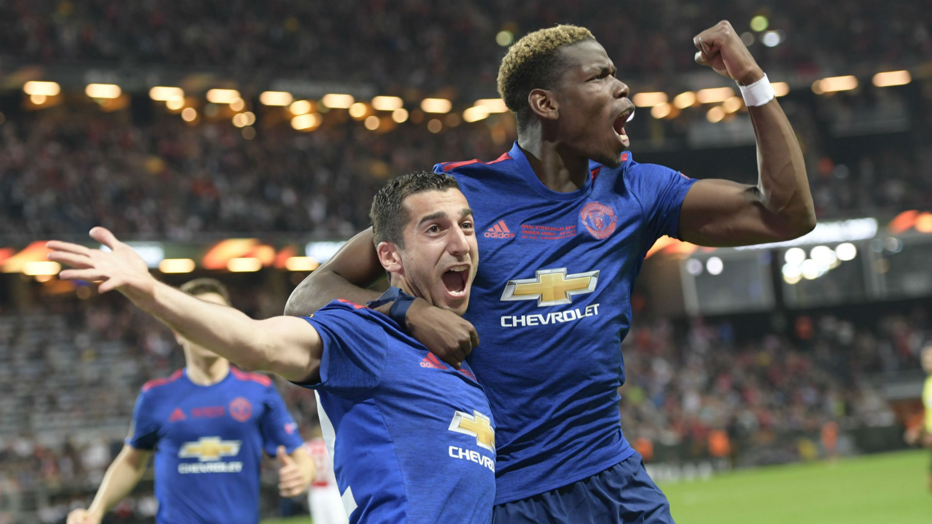 Henrikh Mkhitaryan Paul Pogba Manchester United Europa League Final