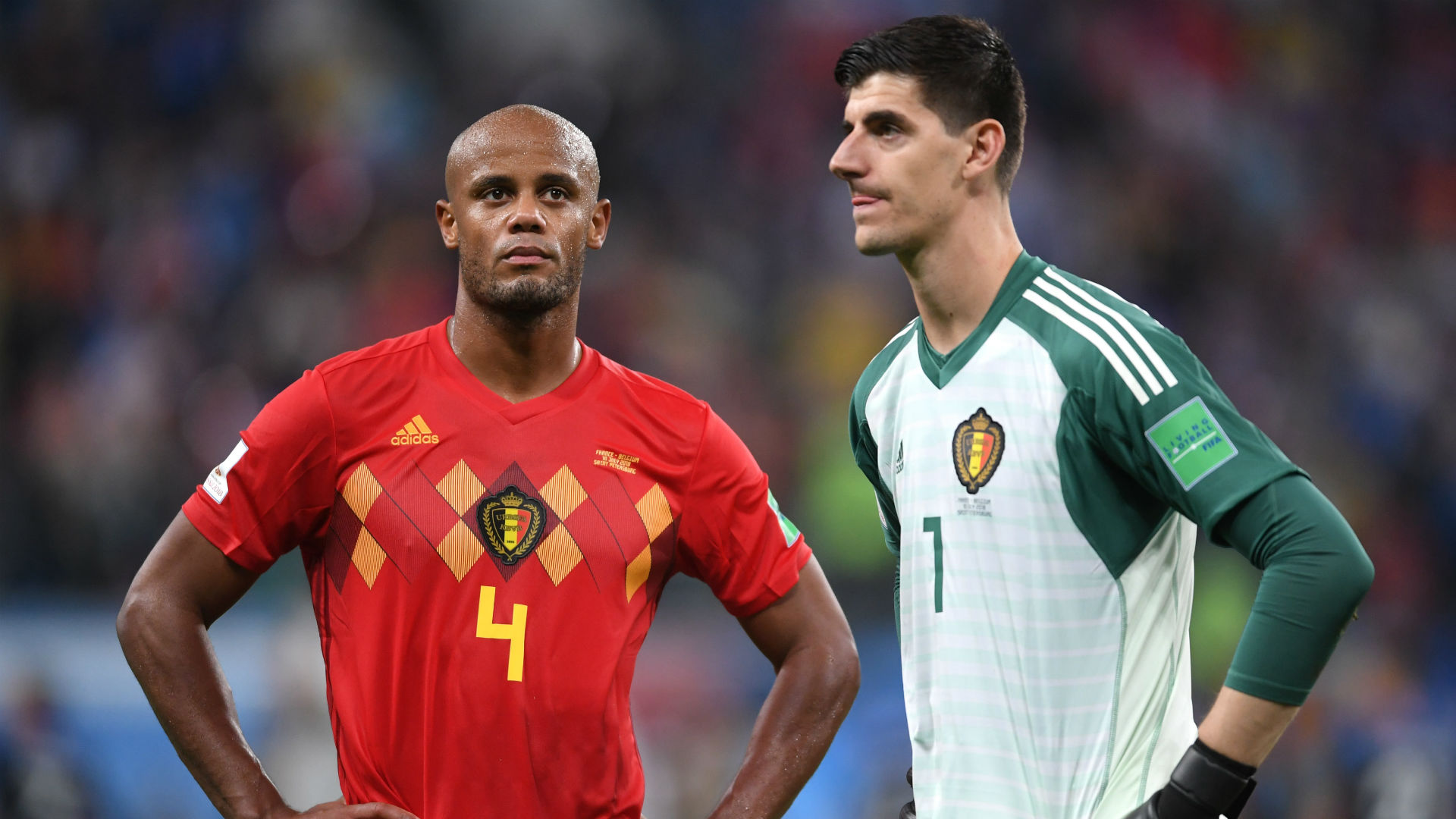 Vincent Kompany Thibaut Courtois Belgium World Cup 2018