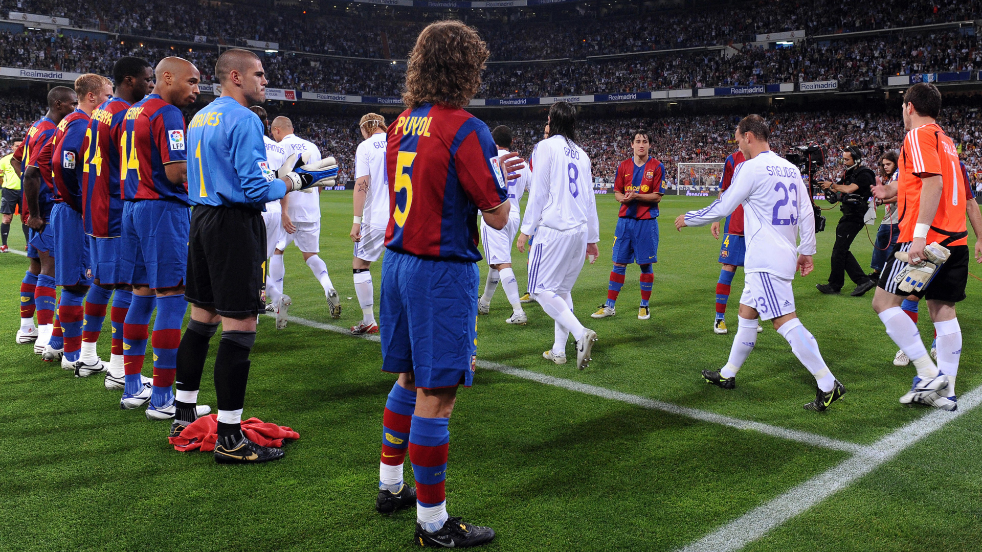 Real Madrid FC Barcelona Ehrenspalier 07052008