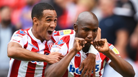 Benik Afobe, Stoke City vs. Brentford, English Championship, August 11