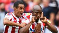 Benik Afobe, Stoke City vs. Brentford, English Championship, August 11