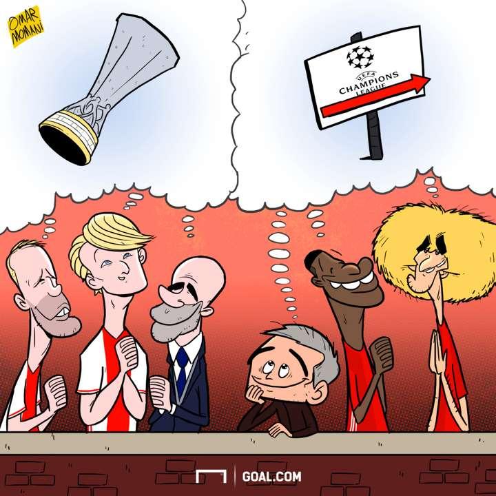 Cartoon - Manchester United vs Ajax