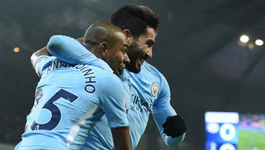 Ilkay Gundogan Fernandinho Manchester City