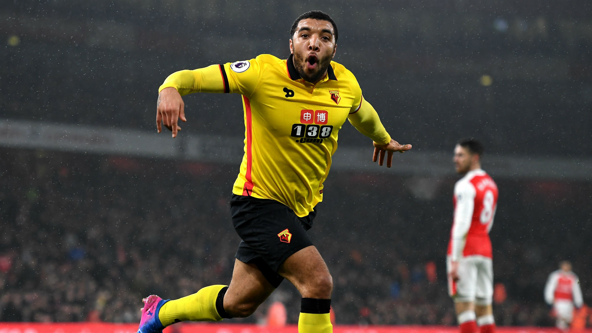 Troy Deeney Premier League Arsenal v Watford