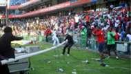 Angry Orlando Pirates fans at Loftus Stadium