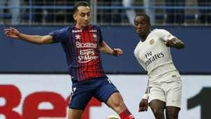 Moussa Diaby Faycal Fajr Caen PSG Ligue 1 02032019