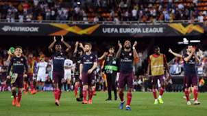 henrikh mkhitaryan shkodran mustafi 2019 2018/19 arsenal fc europa league alexandre lacazette
