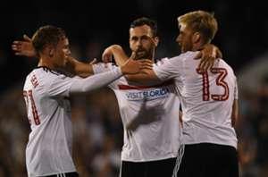 Fulham celebrating against Newcastle
