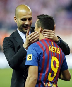 Alexis Sanchez Pep Guardiola EMBED ONLY