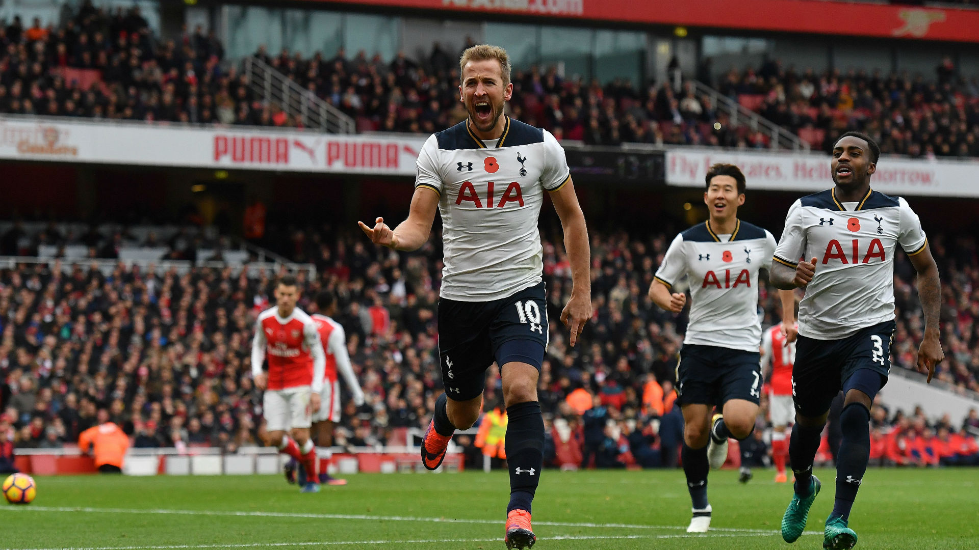 Harry Kane Premier League Arsenal v Tottenham 061116