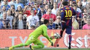 Lionel Messi Diego Alves Barcelona Valencia La Liga 18042015