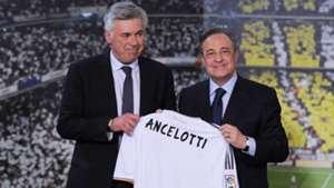 Carlo Ancelotti and Florentino Perez in 2013