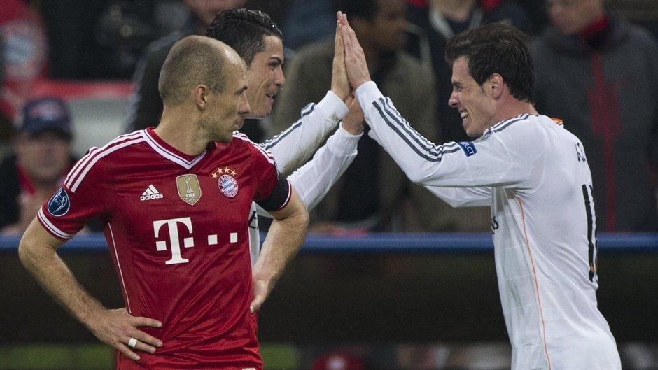 Arjen Robben Cristiano Ronaldo Gareth Bale Bayern Munich Real Madrid Champions League 2013-14