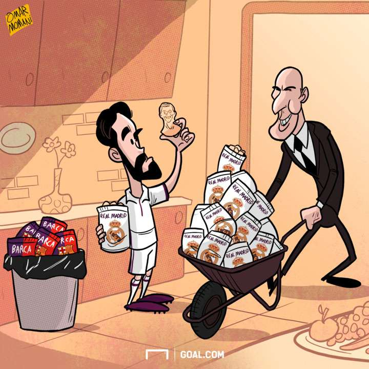CARTOON Isco's crisps
