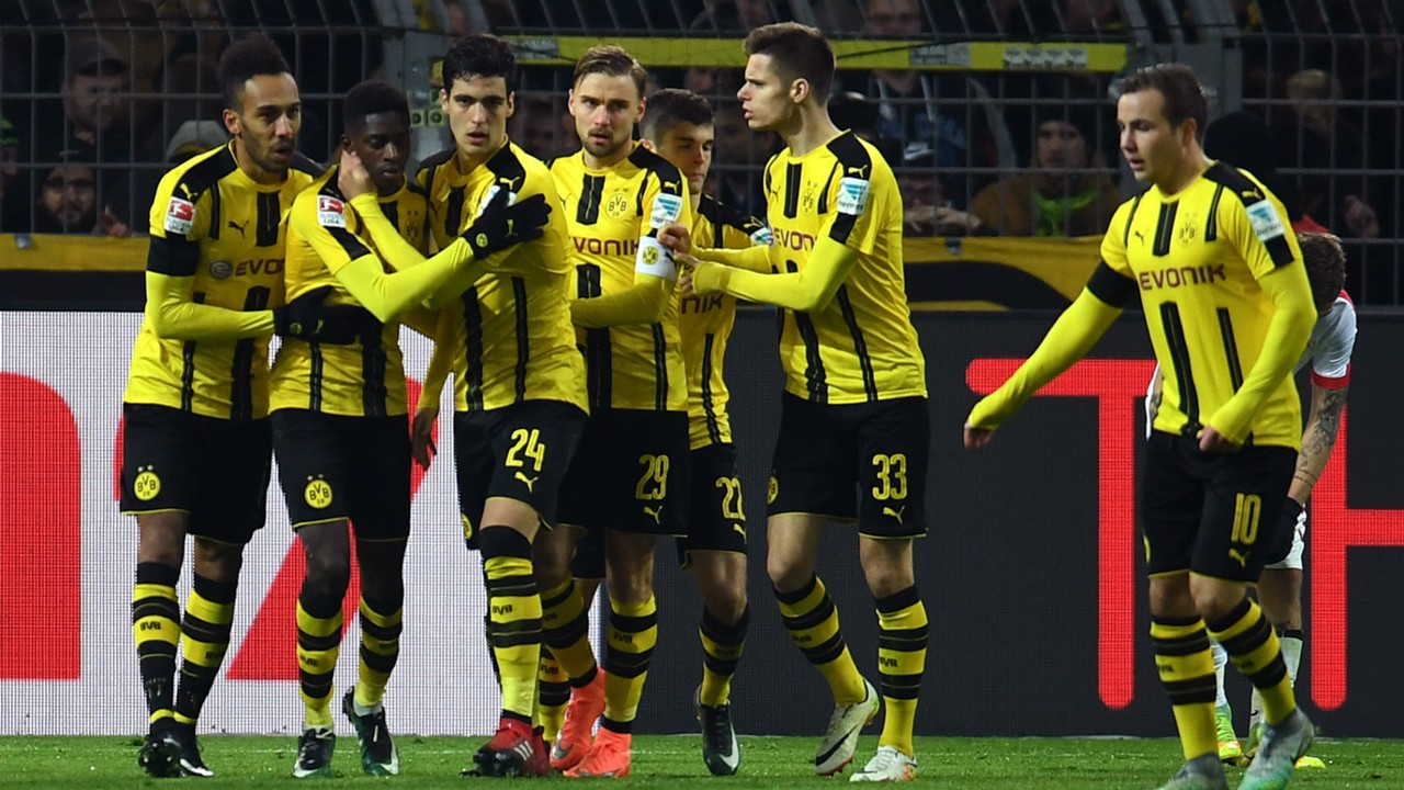 HD Borussia Dortmund celebrate