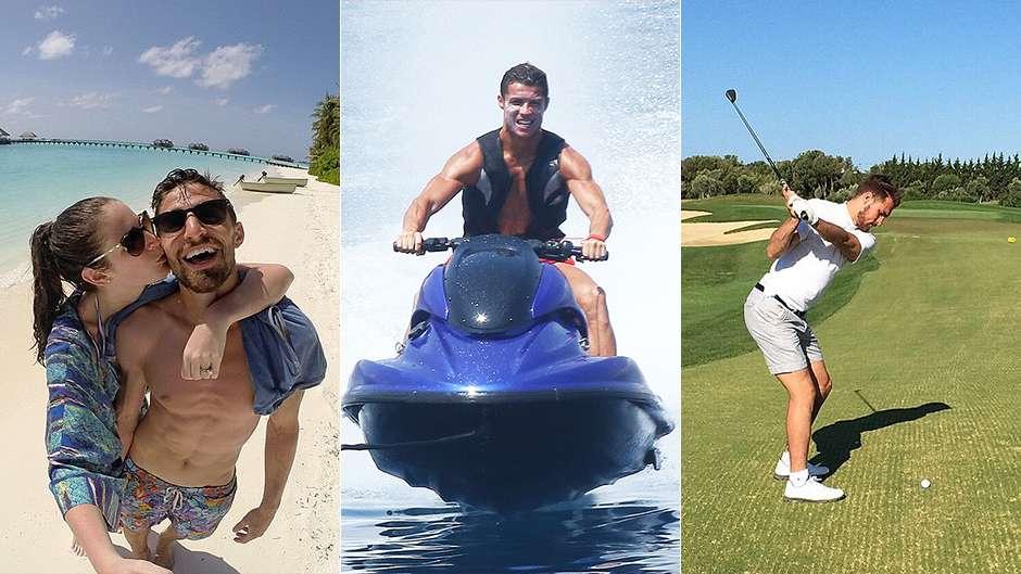 Xavi, Ronaldo and Gerrard soak up the sun - football stars jet off around the world for their summer break