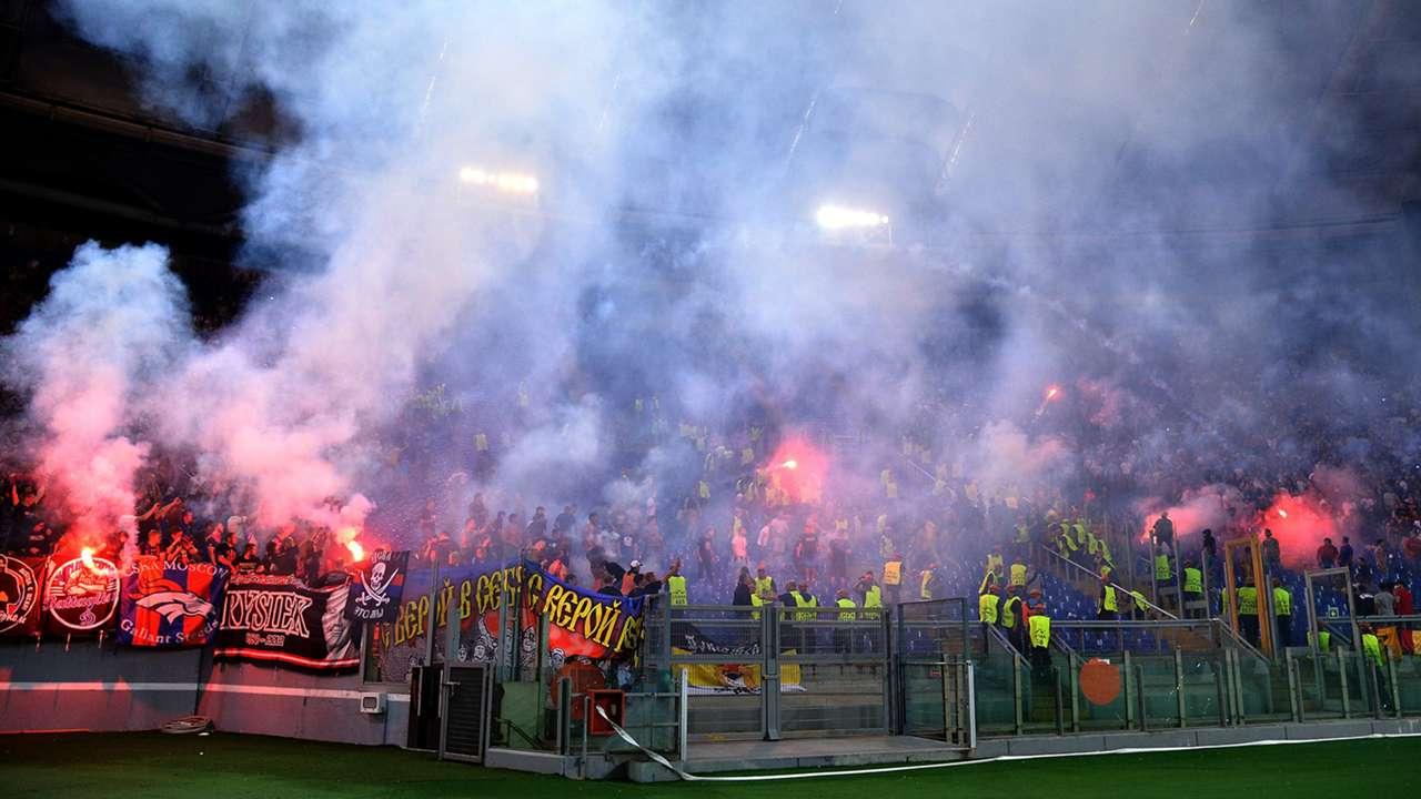 Fans CSKA Moscow Roma Champions League 17092014
