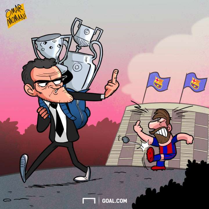 Cartoon - Luis Enrique to leave Barcelona