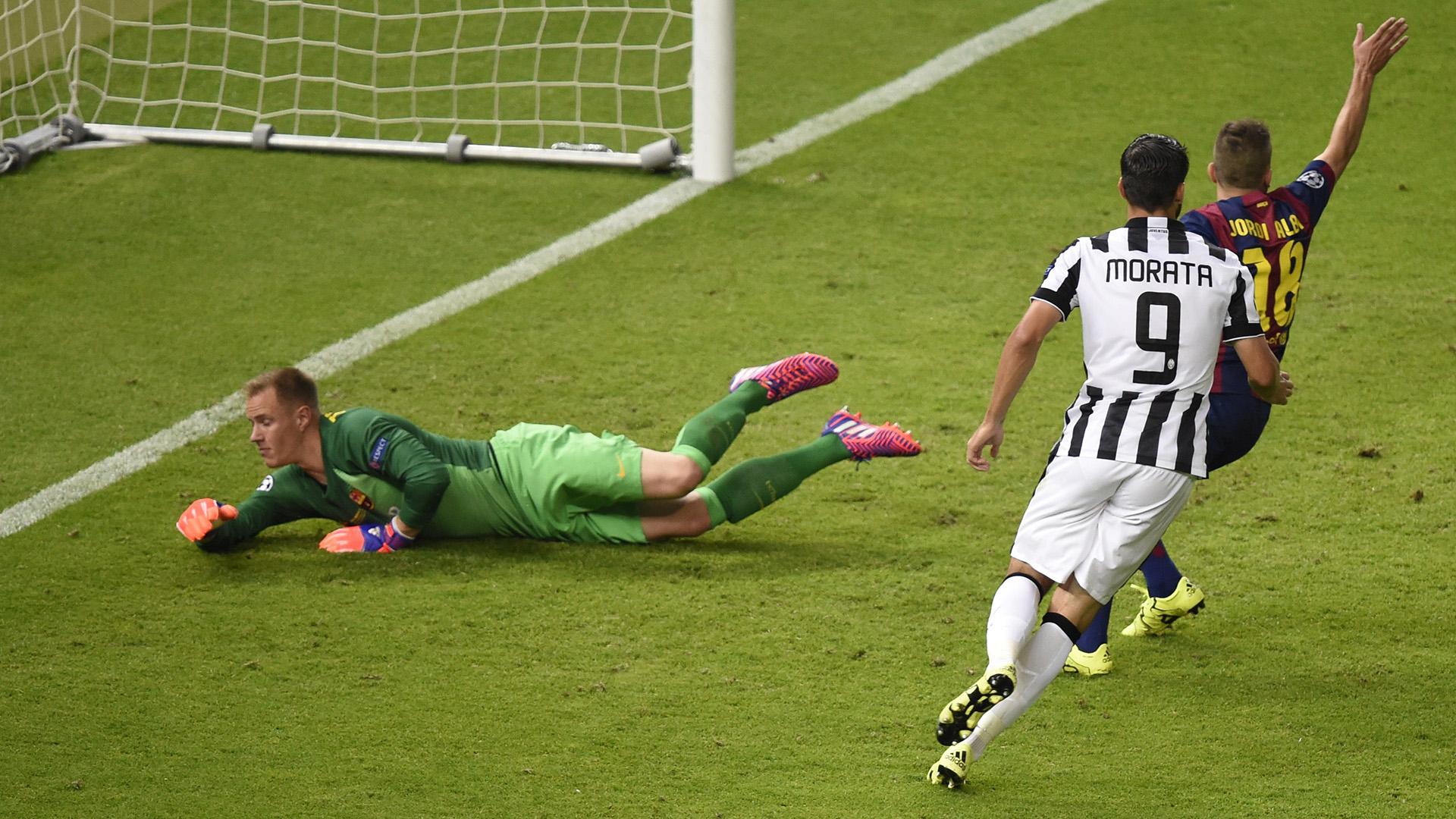Álvaro Morata Juventus Barcelona Champions League final 06062015