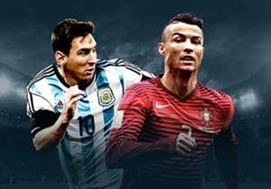 GFX HP Argentina Portugal Lionel Messi Cristiano Ronaldo