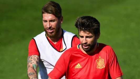 Sergio Ramos Gerard Pique Spain