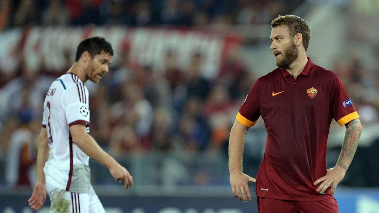 Xabi Alonso Daniele De Rossi Roma Bayern Munich Champions League 2014-15