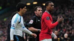 Luis Suarez Patrice Evra Liverpool Manchester United 2012