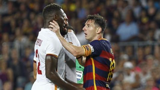 Mapou Yanga-Mbiwa Lionel Messi Barcelona Roma
